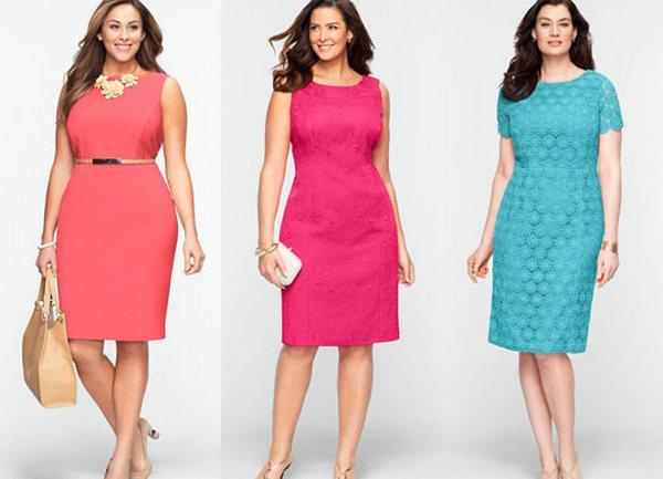 Летнее платье футляр для полных женщин