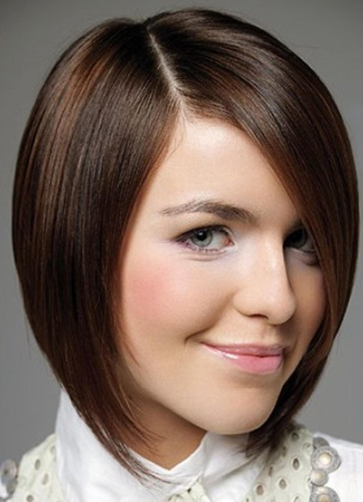 прическа боб каре фото для круглого лица