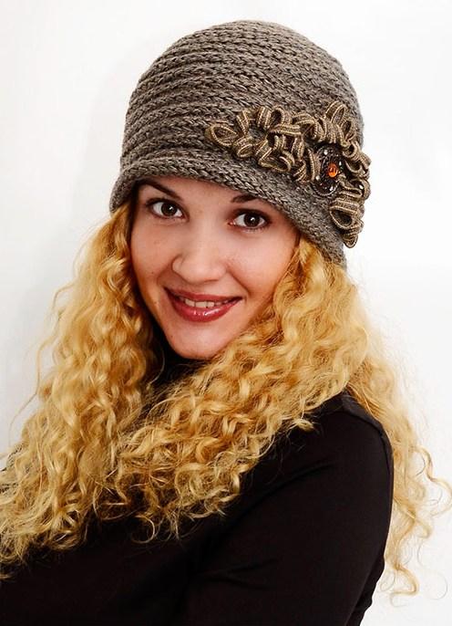 Схемы вязаных шапок, осень