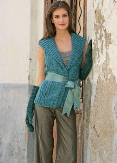 Для вязания жилета Вам