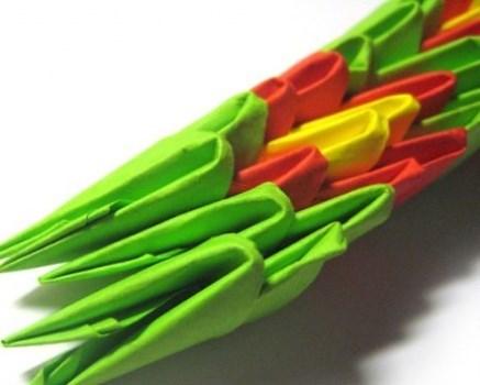 модульное оригами змея 18