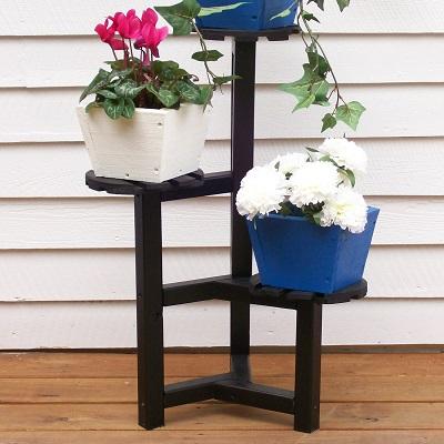 Напольная деревянная подставка для цветов фото своими руками