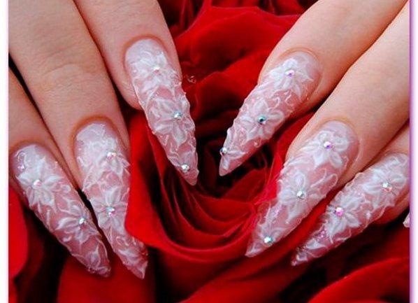 Фото нарощенные ногти свадебные
