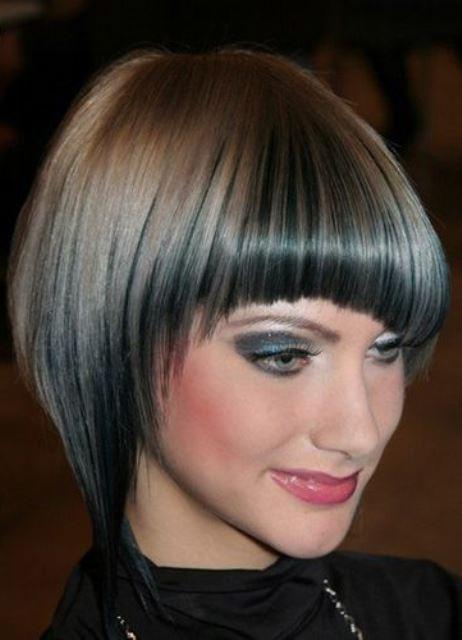 Покраска волос верх белый низ чёрный