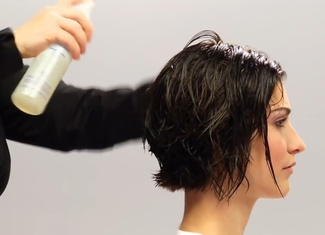 Укладка волос пенкой и феном