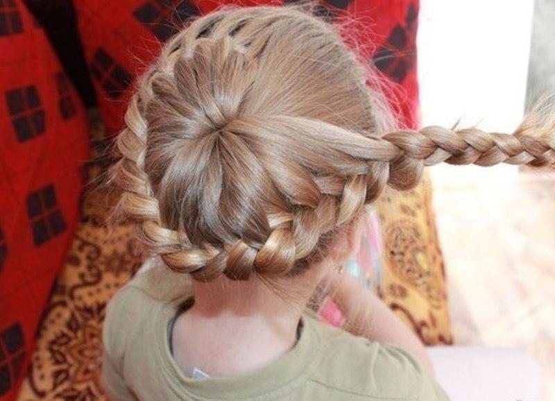 Прическа из косичек для девочки своими руками