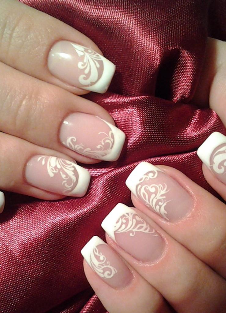 Красивый маникюр на коротких ногтях французский маникюр фото