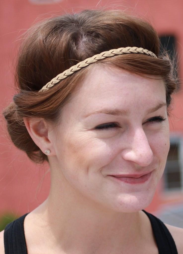 Ободок для греческой прически на короткие волосы