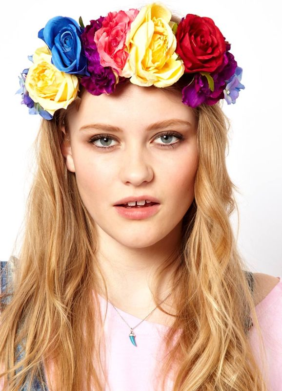 Редактор цветы на голову