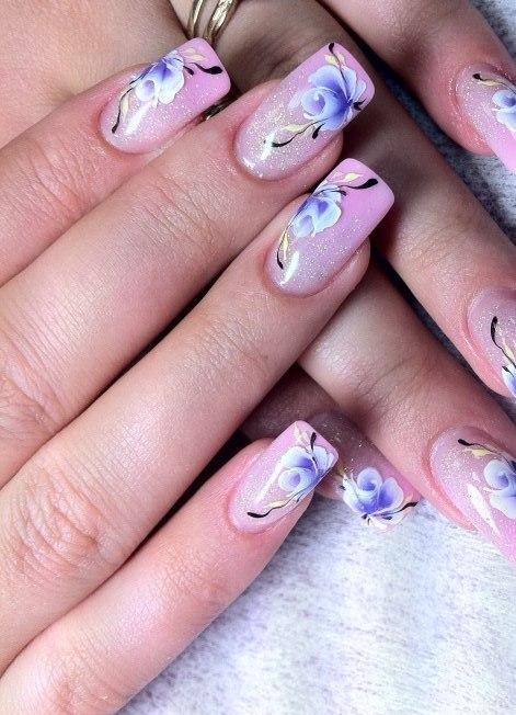 рисунки на ногтях фото акрил