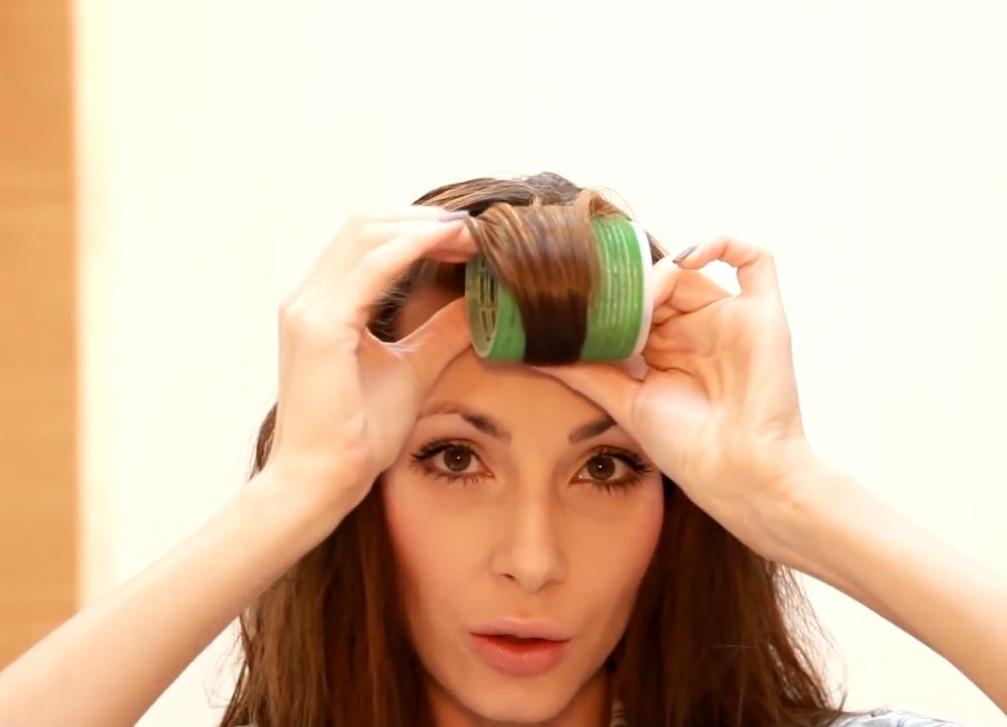 Как накручивать длинные волосы на бигуди-липучки