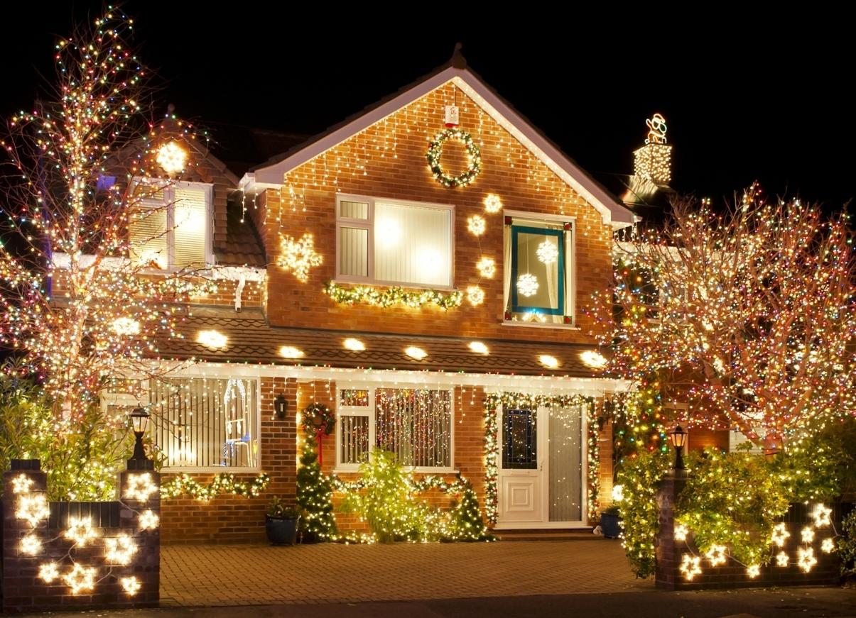 Новогоднее украшение дома на новый год