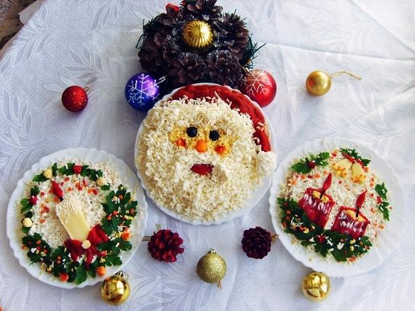 Оформление Новогодних Салатов Для Детей