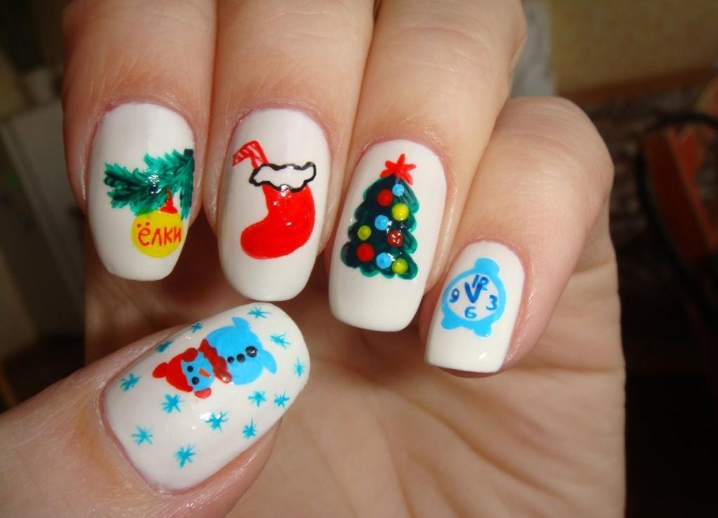 Новогодний дизайн ногтей своими руками фото 348