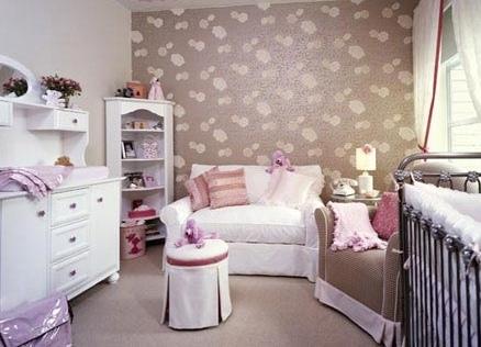 Дизайн обоев для детской комнаты для девочки