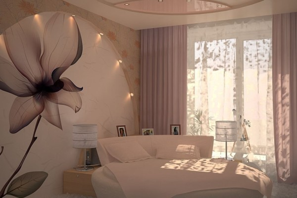 обои для спальни дизайн: