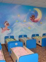 Оформление спальни в детском саду