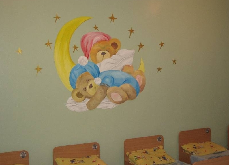 Рисунки на стену в спальню своими руками