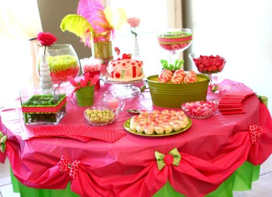 Украшения для стола на день рождения своими руками 70