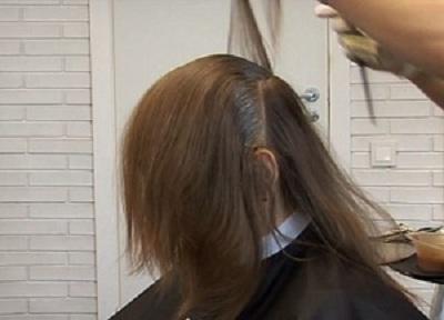 Окрашивание волос поэтапное