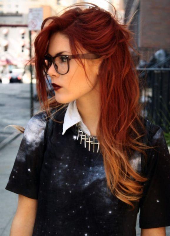 Омбре на мелированные волосы - 5