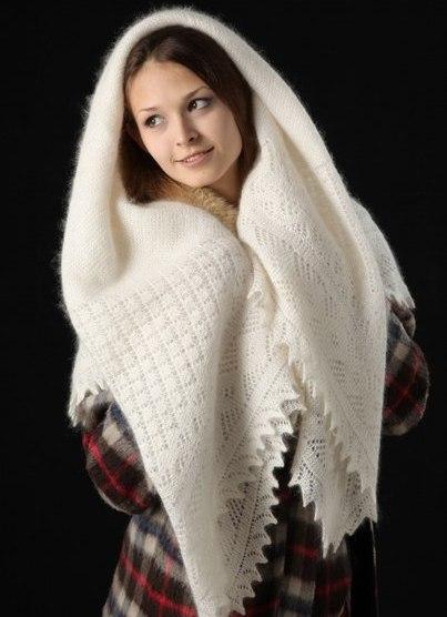 пуховый платок с шубой