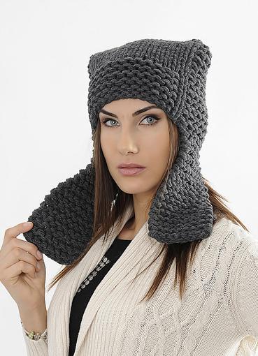 Связать интересную женскую шапку