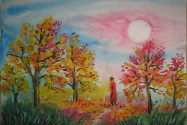Осенний лес в рисунках детей