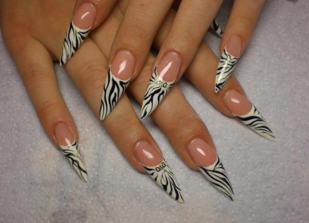 Дизайн острых гелевых ногтей