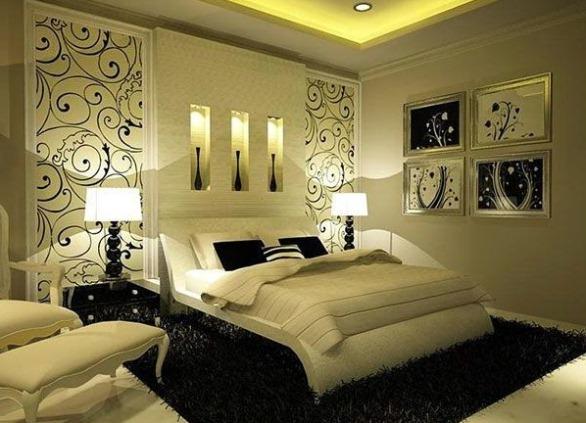 оформление спальню попроще фото