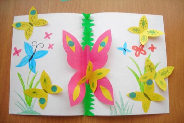 Поделки из цветной бумаги своими руками для детей фото