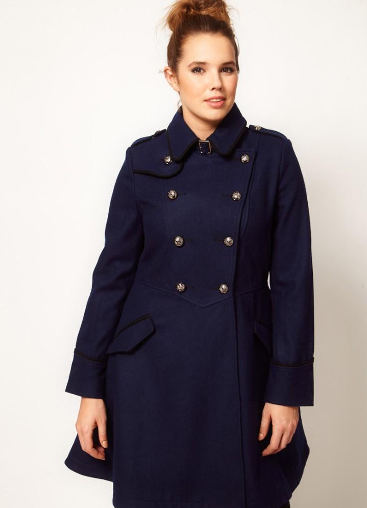 Модные пальто для полных женщин 2013
