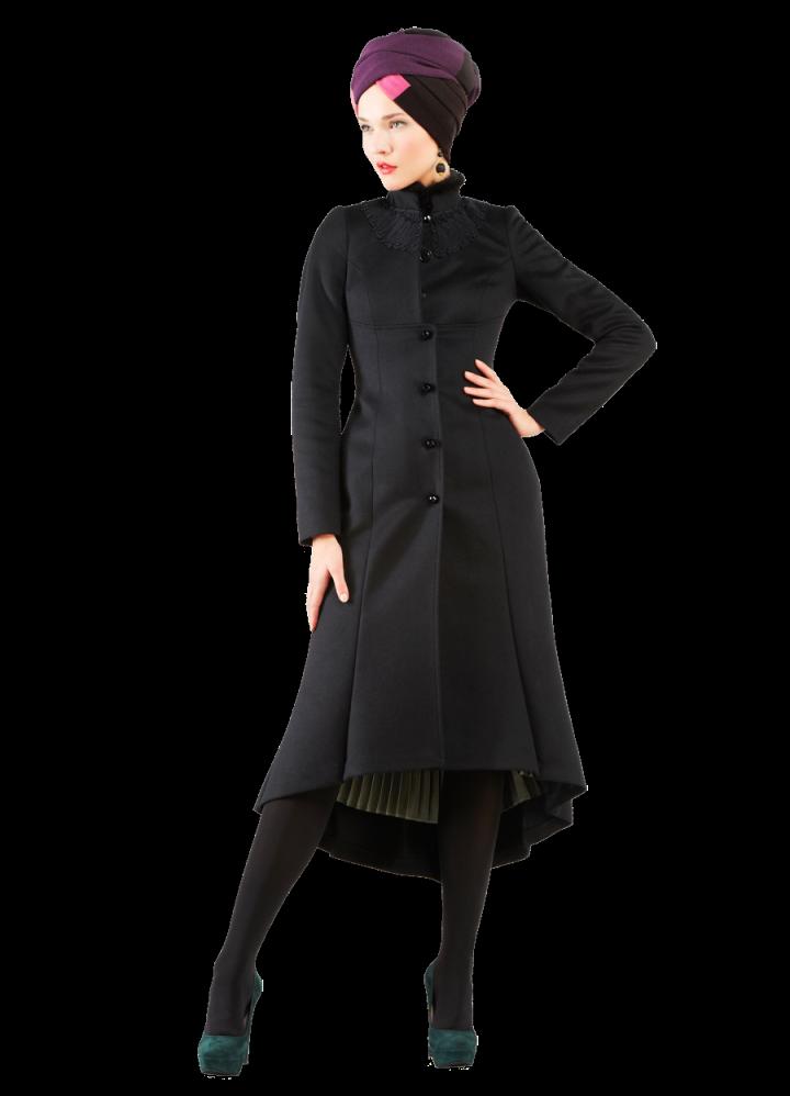 Приталенное пальто женское