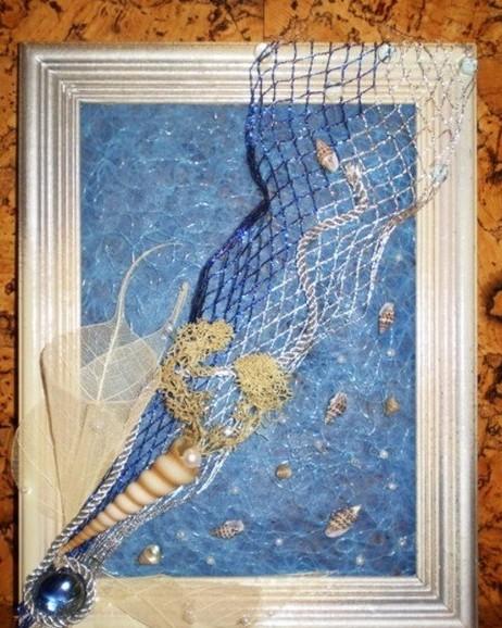 Панно из морских ракушек
