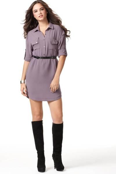 Платья рубашка шифоновое