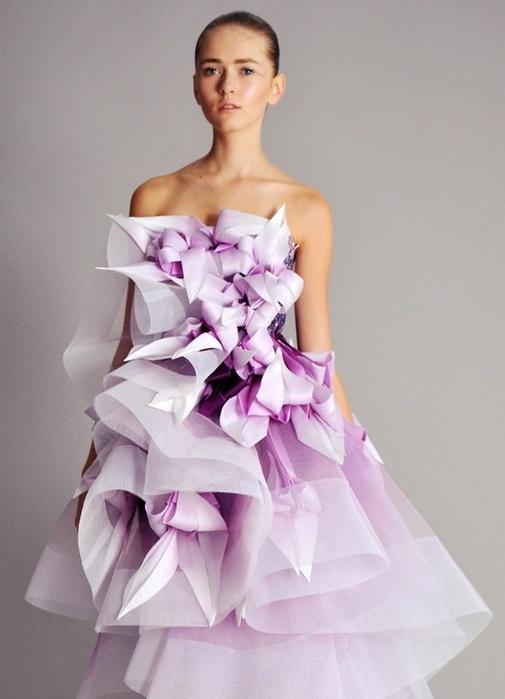 Платья из гофре бумаги