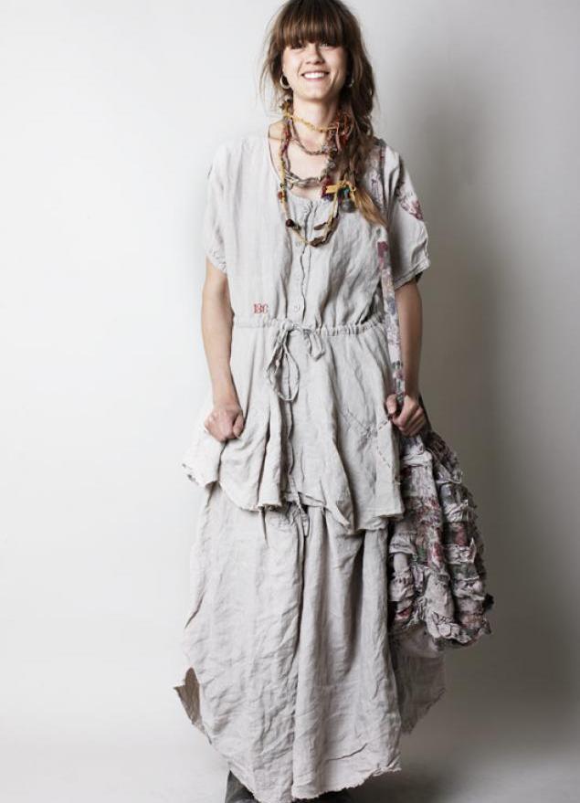 Платье в горошек в стиле бохо