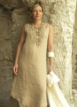 Платья изо льна стиль бохо