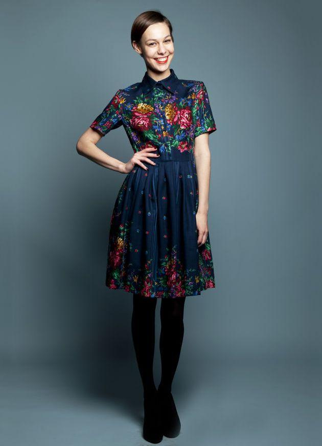 Купить Платье Из Павлопосадского Платка В Интернет Магазине Недорого