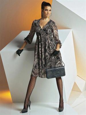 Платье из шифона для полных женщин2