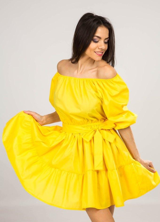 Платья с большими рукавами фонарик
