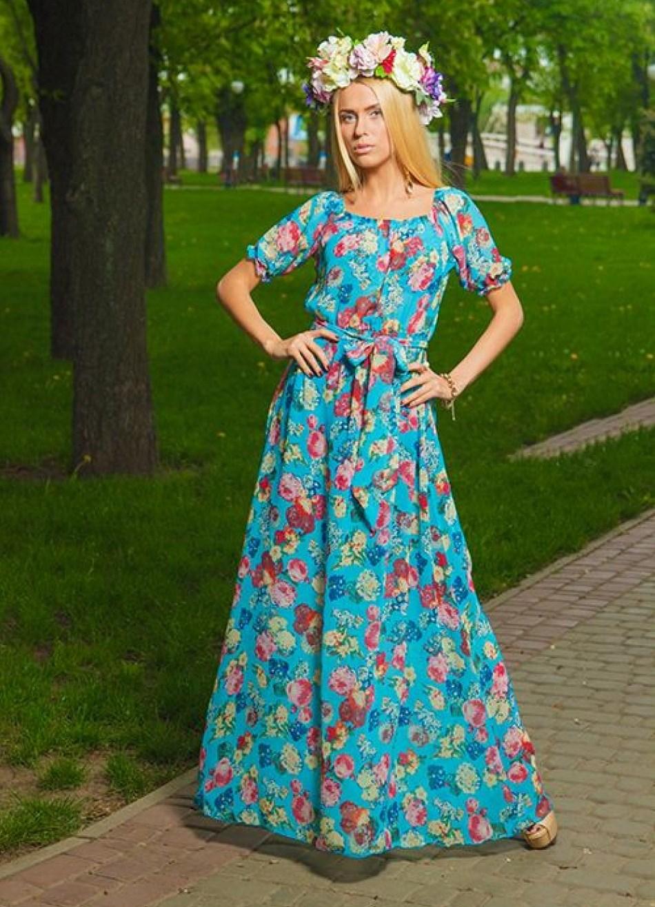 Платье крестьянки