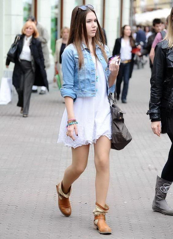 Платье и джинсовый жакет