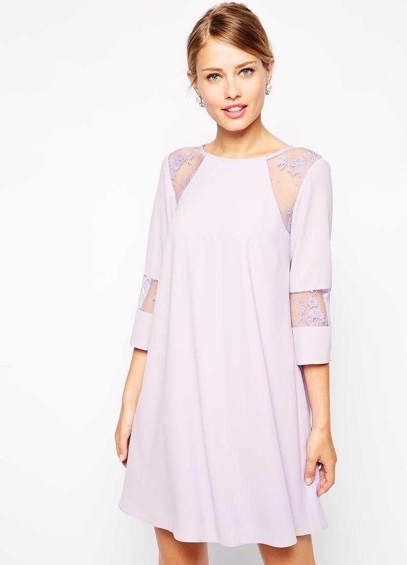 Платье со вставками фото