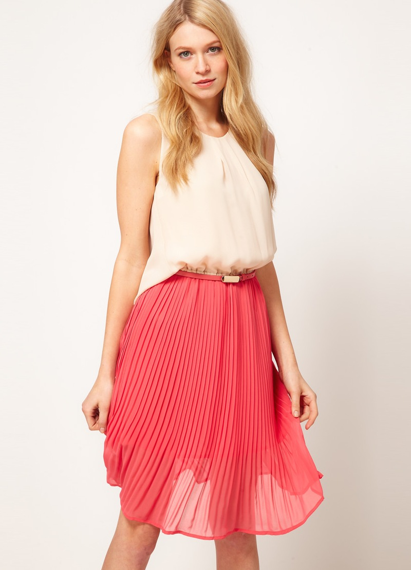 Платье плиссе от Miss Sixty