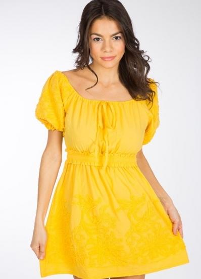 Фасон платья с рукавом фонарик