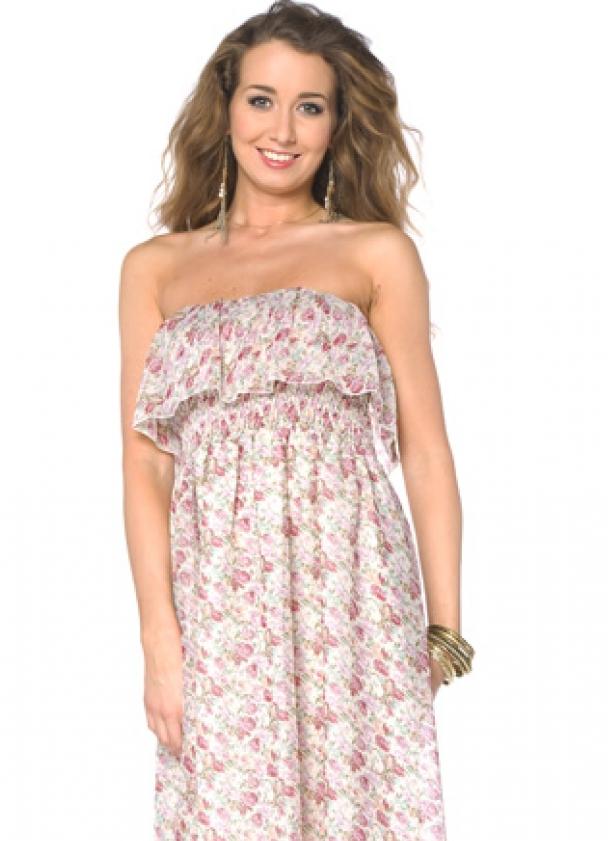 Платье с воланами