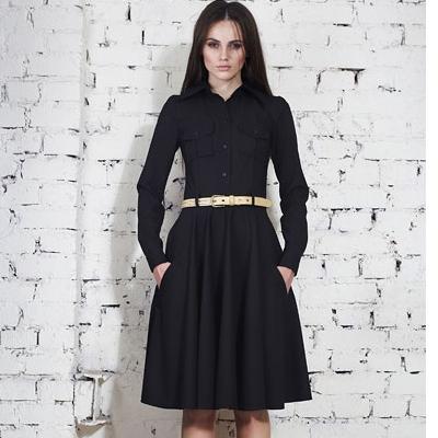 Фасон платья с юбкой полусолнце
