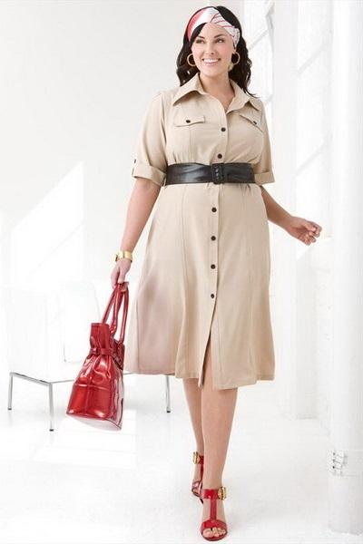 Купить Платье бежевое в клетку с черными рукавами с доставкой по