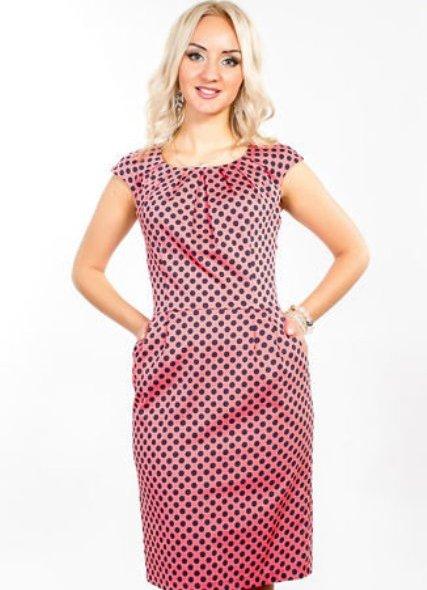 Из ткани в горошек какой фасон платья